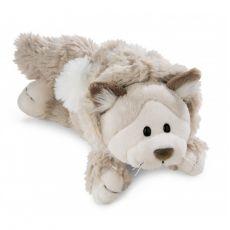 Maskotka Kot Śnieżny leżący 30 cm