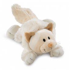 Maskotka Kotka Śnieżna 50 cm leżąca