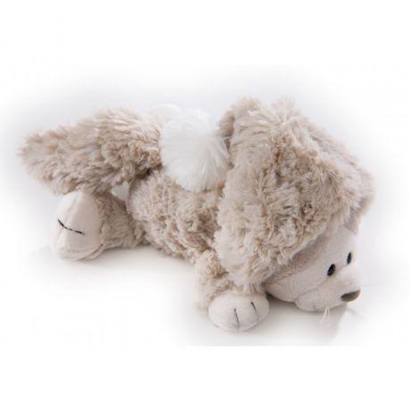 Maskotka Kot Śnieżny leżący 20 cm