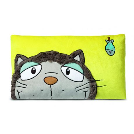 Poduszka Kot szary