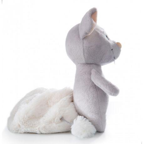 Mysz beżowa z ubrankiem Kota
