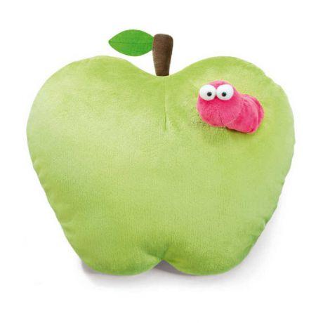 Poduszka zielone jabłuszko z robaczkiem