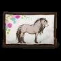 Poduszka Koń szaro-beżowy