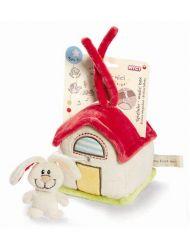 Pluszowa pozytywka domek z króliczkiem