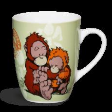 WF21 Kubek zielony Orangutan