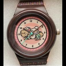 Zegarek na rękę Jolly Candy różowo-brązowy