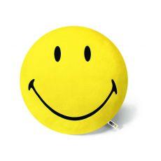 Poduszka okrągla Smiley żółta