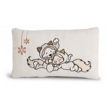 Poduszka prostokątna Kotka & Kot Śnieżny