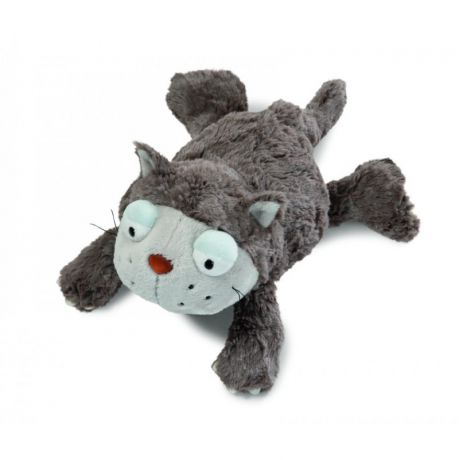 Maskotka Kot szary 30 cm leżący