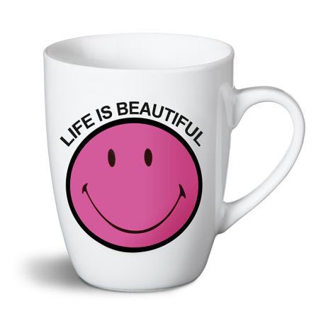 """Kubek """"Life is beautiful"""" Smiley"""